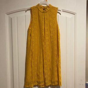 Mustard Yellow Girl's Dress Size My Fits 9-12 yrs